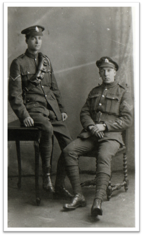 Ernest Charles Bartlett and Cyril George Bartlett c 1916